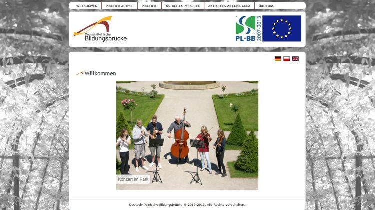 Screenshot'Deutsch-Polnische-Bildungsbrücke'